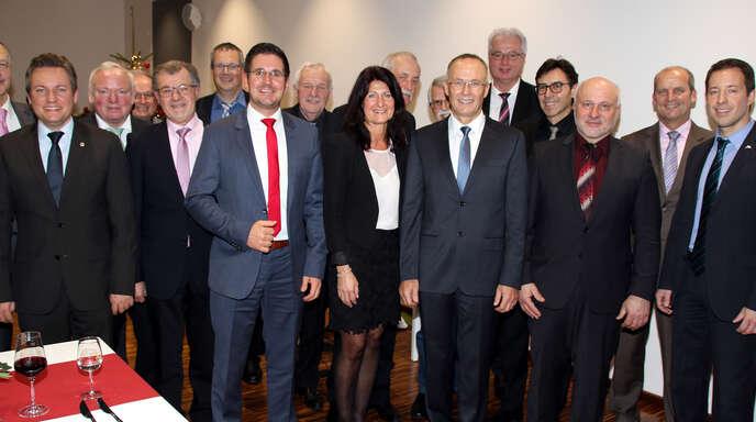 Ende 2017 verabschiedete sich Wolfgang Reinholz von den Bürgermeistern, Ex-Bürgermeistern und Ortsvorstehern der Region.