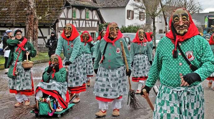 Auch die »Roßbachhexen Altdorf« sind immer wieder gern gesehene Gäste in Schwanau.