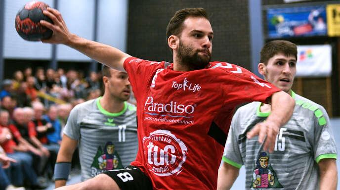 »Handball-Rentner« Marius Bachmann hilft derzeit beim TuS Altenheim erfolgreich aus.