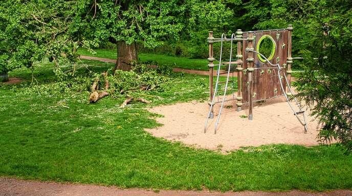 Bis Donnerstagmorgen gesperrt: der Werderpark