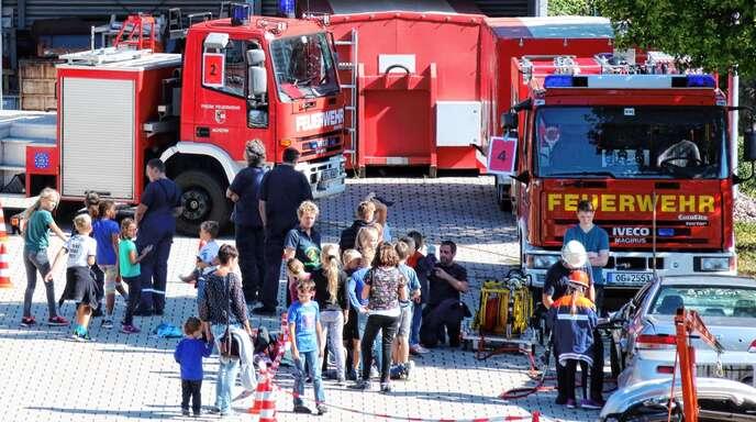 Feuer und Flamme für die Feuerwehr sind derzeit 124 Kinder und Jugendliche in der Gesamtwehr der Stadt Achern, die damit in ihrer Nachwuchsarbeit ganz vorne im Ortenaukreis liegt.