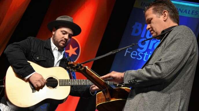 inen ganz großen Auftritt lieferten die US-Musiker Trey Hensley (links) und Rob Ickes.
