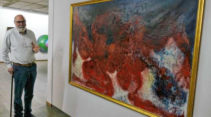 Germain Roesz, Künstler und emeritierter Professor für Kunstwissenschaft an der Universität Straßburg, hat die Ausstellung kuratiert.