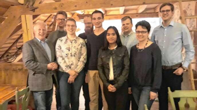 Von links nach rechts: Peter Weiß, Lorenz von Haas, Ann-Sophie Langwost, Daniel Zehnle, Paul Sütterlin, Anna Guth, Claudius Wurth, Marion Gentges und Felix Ockenfuß