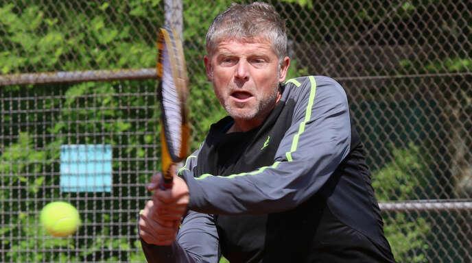 Der ehemalige Weltklassespieler Jiri Novak vom TC BW Bohlsbach hatte bei seinem Einzelerfolg in Karlsruhe-Durlach keine Mühe.