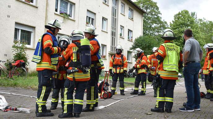 Die Einsatzkräfte der Freiwilligen Feuerwehr Oberkirch durchlüfteten das Gebäude.