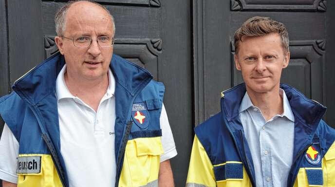 Roland Deusch (links) kann mit Franz Steinbild einen neuen Notfallseelsorger im Bereich Acher-Renchtal willkommen heißen. Steinbilds Erfahrungen im therapeutischen Bereich können laut Deusch »Gold wert sein«.