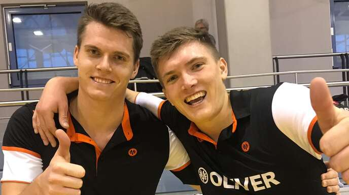 Platz eins im Doppel: Jonas (l.) und Lukas Burger.
