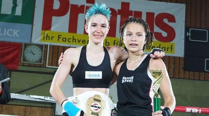 Die Offenburgerin Dorothea Ziegler (l.) mit Weltmeisterin Magali Klasema.