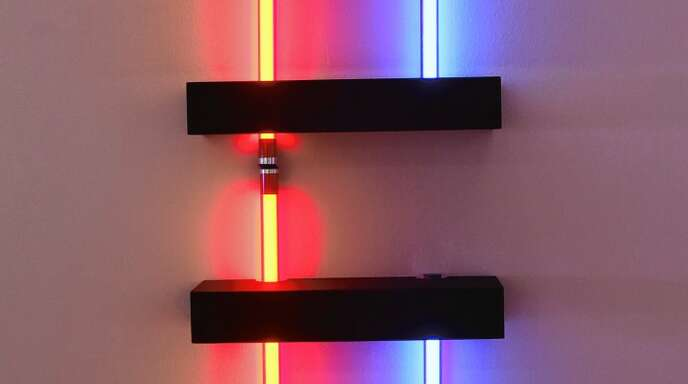 Lichtinstallation von Betty Rieckmann.