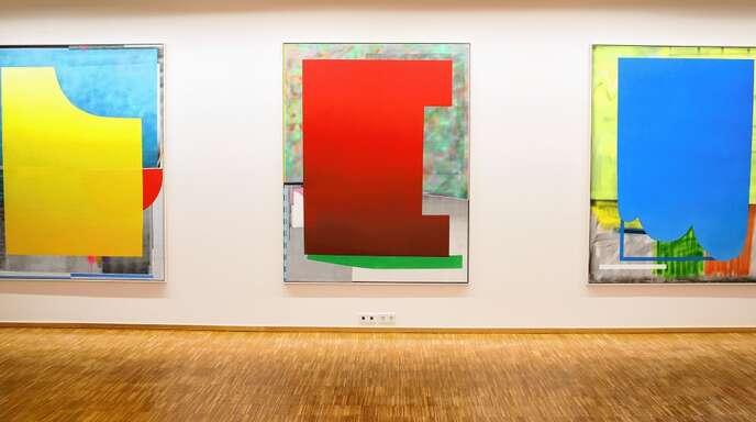 Geometrische und abstrakte Elemente gehören zur Bildsprache von Enrico Bach.
