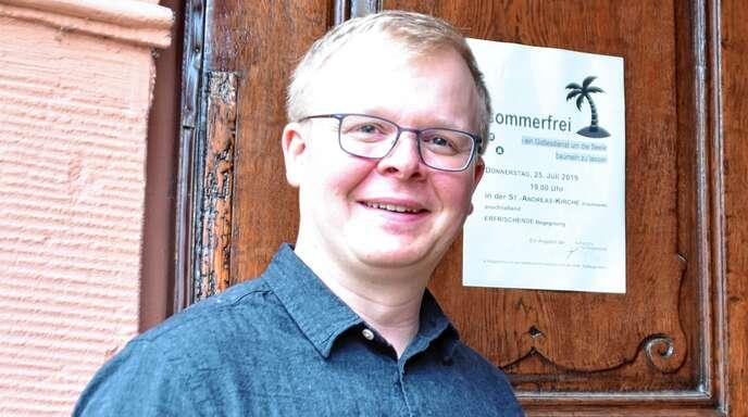Marcel Oertwig freut sich auf viele Besucher in der St.-Andreas-Kirche.