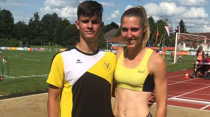Finn Heitzmann und Kirsten Leiser absolvierten einen guten Mehrkampf in Weingarten.