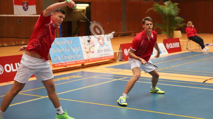 Lukas und Jonas Burger im Doppel zuletzt gegen Hofheim.