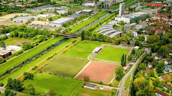 Falls die Landesgartenschau kommt, soll aus dem Karl-Heitz-Stadion ein Bewegungs-, Mehrgenerationen- und Wasserpark werden.