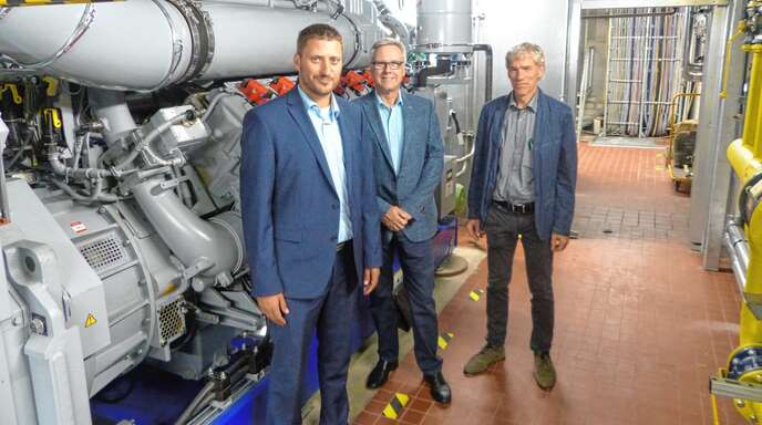 Wollen den Ausbau der Fernwärme in Offenburg vorantreiben (von links): Stefan Böhler (Projektleiter WVO), Rainer Lindenmeier (Geschäftsführer Wohnbau Offenburg) und Johannes May (Leiter Technik Wohnbau).