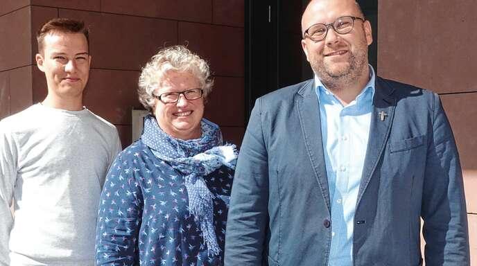 Claudius Sonntag, Sonja Weißenbach und Manuel Gärtner (von links) sind die drei Neuen im Hauptamtlichen-Team der Seelsorgeeinheit Achern.