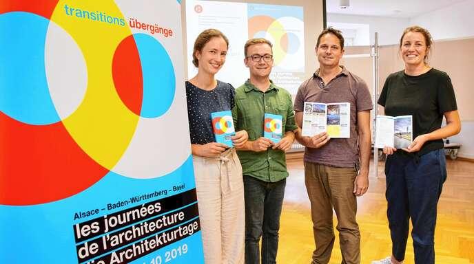 Was bei den Architekturtagen alles geboten ist, erklärten (von links) Pia Gerzmann, Felix Bruckner, Philip Denkinger und Agathe Croquelois in Offenburg.