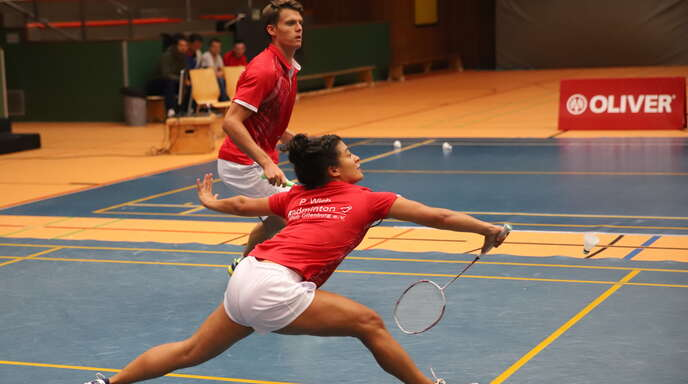 Paloma Wich, hier mit Jonas Burger im Mixed gegen Hofheim.