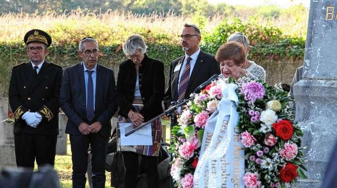 Irina Katz, Vertreterin der Israelitischen Religionsgemeinschaft Baden, zitierte bei der Gedenkveranstaltung aus dem Abschiedsbrief der Freiburgerin Theresa Levy.