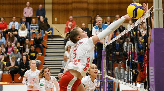 Hannah Haas wusste mit dem VC Offenburg beim ersten Heimsieg der Saison zu überzeugen.