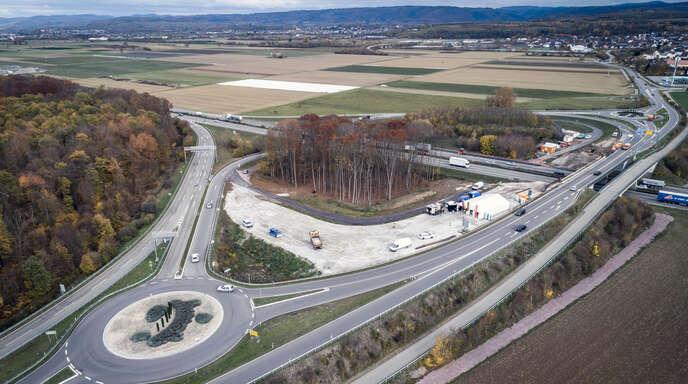Archivbild vom 9. November 2018 von der A5-Anschlussstelle Rust.