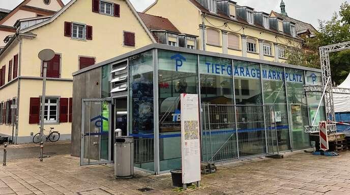 Die Toilettenanlage im Kassenbereich der Marktplatz-Tiefgarage gibt es seit September 2016.