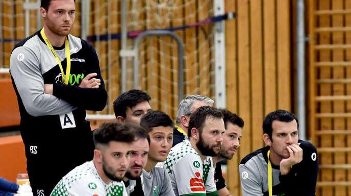 Hedos-Coach Simon Herrmann (r.) fordert vollen Einsatz.