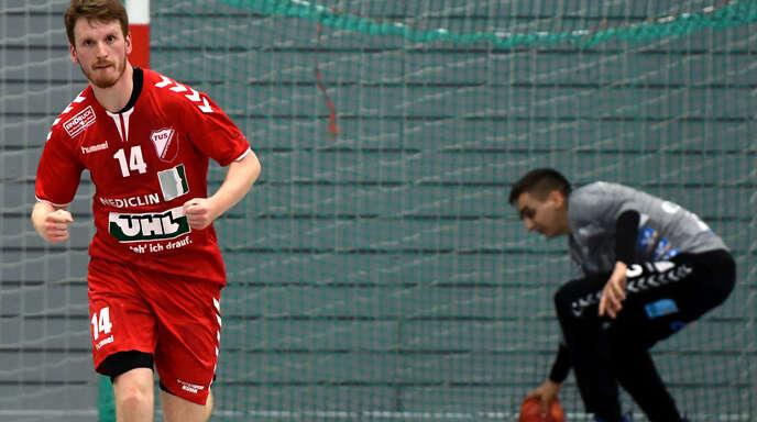 TuS-Linksaußen Mathis Vornholt machte mit sieben Toren ein klasse Spiel.
