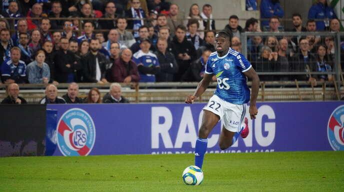 Youssouf Fofana erzielte den Straßburger Führungstreffer zum 1:0 gegen Lyon.