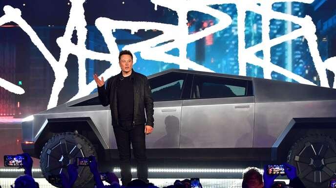 """Tesla will mit dem """"Cybertruck"""" in den wichtigen Pick-up-Markt amerikanischer Autokonzerne vorstoßen."""