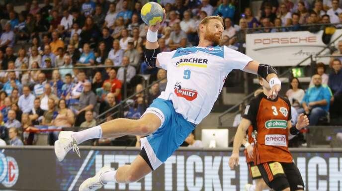 Manuel Späth hebt ab vom Kreis: Sein großer Traum wäre der Einzug ins Final Four nach Hamburg.