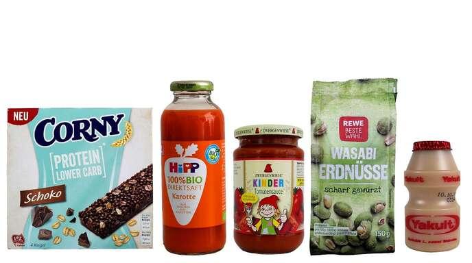 Diese fünf Produkte hat Foodwatch für den diesjährigen Negativpreis nominiert.
