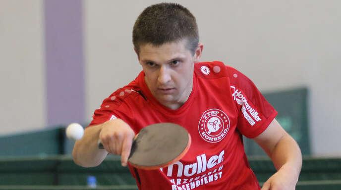 Hohbergs Spitzenspieler Kestutis Zeimys gab gegen Altshausen im Doppel und Einzel keinen einzigen Satz ab.