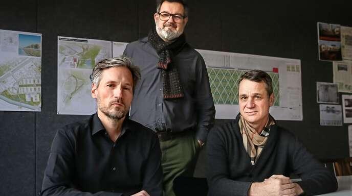 Das siegreiche Planer-Trio: Cem Arat, Markus Weismann, Jochen Köber (von links)