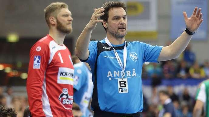 Markus Baur, Handball-Weltmeister von 2007, arbeitete mit Jogi Bitter (li.) beim TVB Stuttgart zusammen.