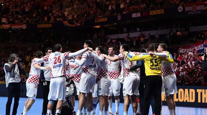 Nach 80 Minuten Handballkrimi war der Halbfinal-Fluch der Kroaten endlich besiegt.