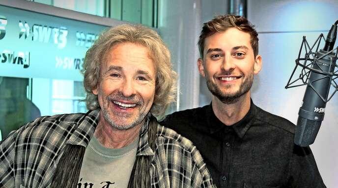 Duo im Studio: Thomas Gottschalk (li.) und Constantin Zöller