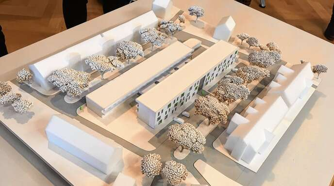 Auf einer Grünfläche zwischen zwei Wohnblocks am Silbereckle in der Stegermatt möchte die Lebenshilfe ein neues Wohnprojekt realisieren.