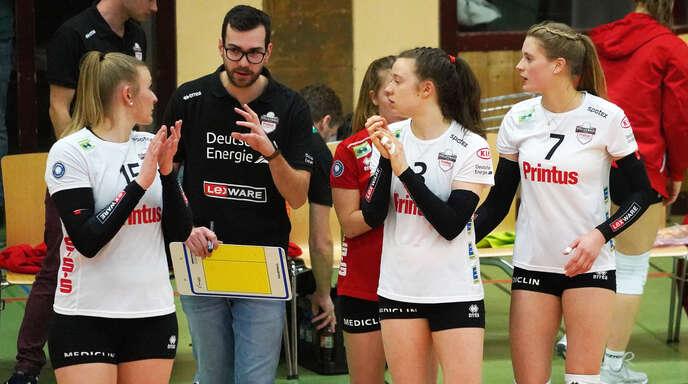 Hier noch für den VCO, mittlerweile in der 1. und 2. Bundesliga sowie in der Schweiz aktiv (von links): Nele Iwohn, Florian Völker, Johanna Müller-Scheffsky und Pia Leweling.