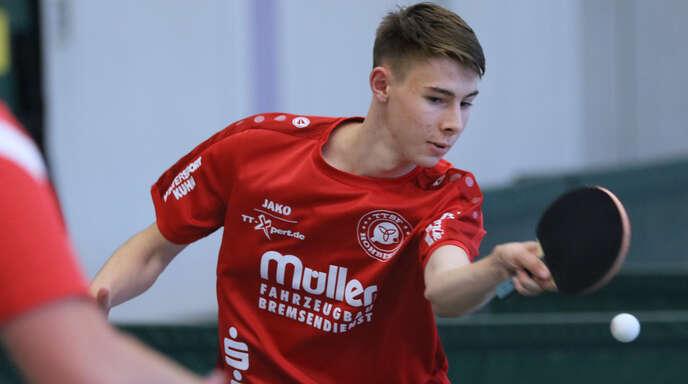 Tom Schaufler will sich mit den TTSF Hohberg für die Hinspiel-Niederlage in Kirchheim revanchieren.