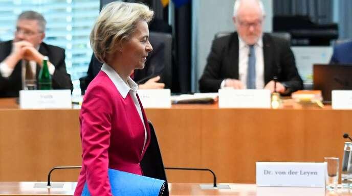 Ursula von der Leyen ist zurück aus Brüssel – um vor dem Untersuchungsausschuss zur Berateraffäre auszusagen.