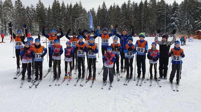 Das Skiteam Bad Peterstal-Griesbach nach dem Gewinn der Mannschaftswertung.