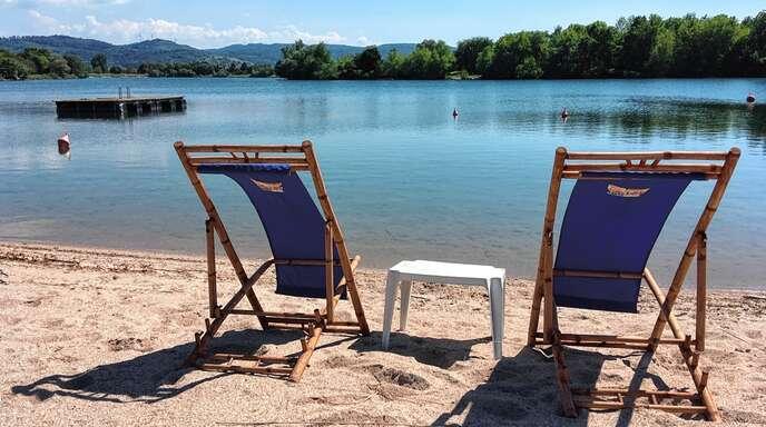 Im Moment bleibt der Ausblick: Das Baden ist im Gifiz-Strandbad aktuell nicht möglich.