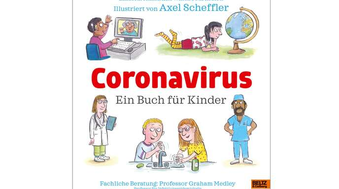 """""""Coronavirus – ein Buch für Kinder"""" erklärt ganz viel. Weitere Tipps mit aktuellen Neuerscheinungen finden Sie in der Bildergalerie."""