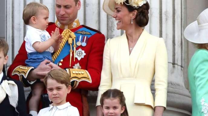 Die Cambridges: Prinz William und Herzogin Kate mit ihren Kindern George, Charlotte und Louis.