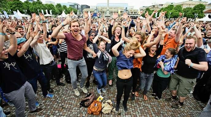 Bild aus früheren Zeiten: Singende Massen bestimmten das Deutsche Chorfest 2016 in Stuttgart.