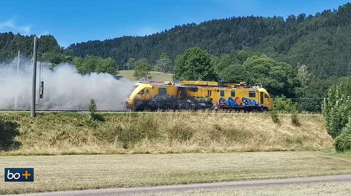 Schwarzwaldbahn Brennender Zug