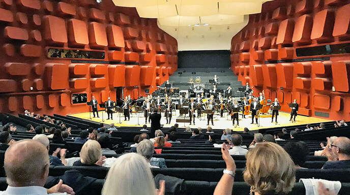 Abstand auf der Bühne und im Saal: Den Musikgenuss im Straßburger Musikpalais trübten die strengen Hygieneauflagen nicht.