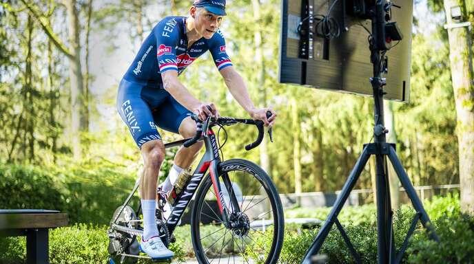 Rennen auf der Rolle: Auch Mathieu Van Der Poel startet bei der virtuellen Tour de France.